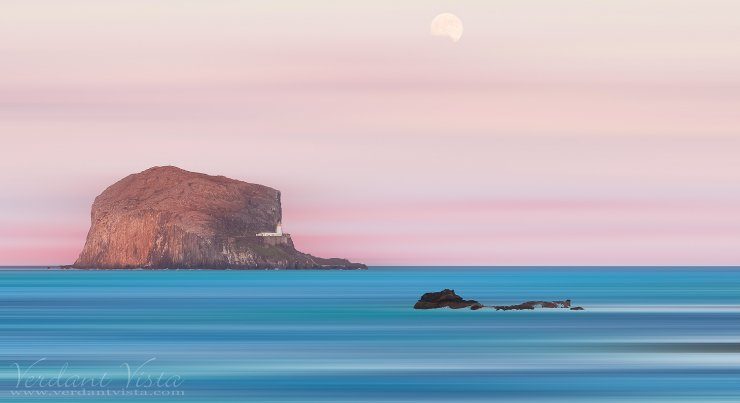 Mooning The Bass Rock