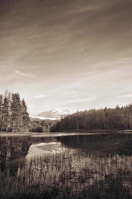 Loch Lubhair - Sepia