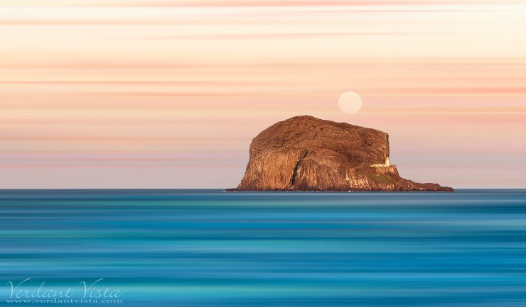 Pastel Mooning The Bass Rock